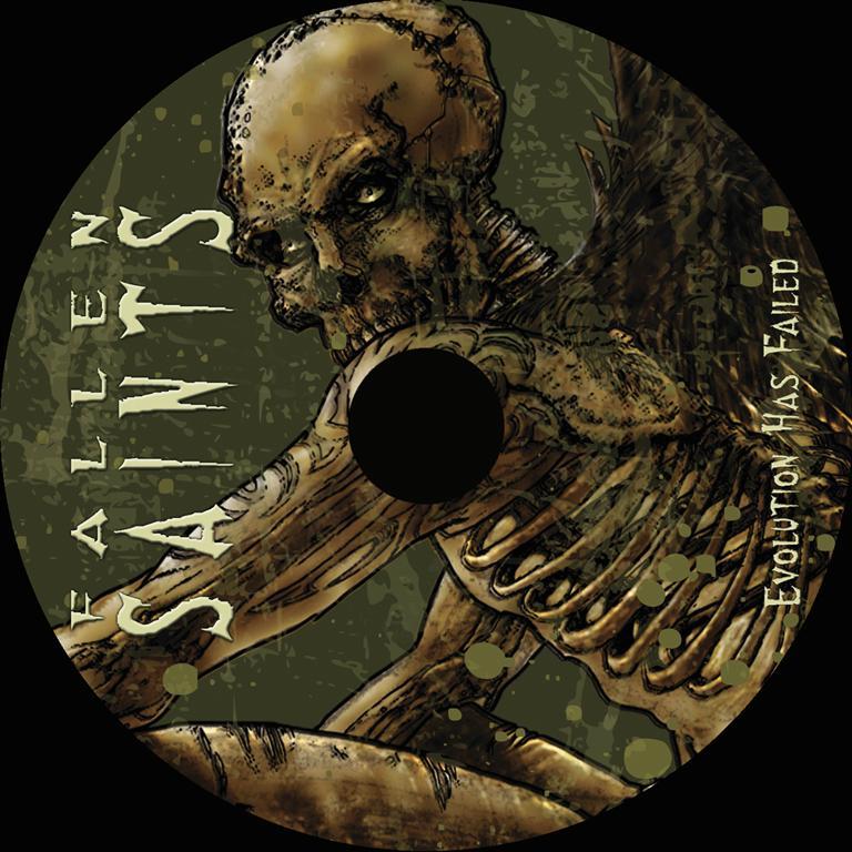 diedel cover cd fallen saints death metal design