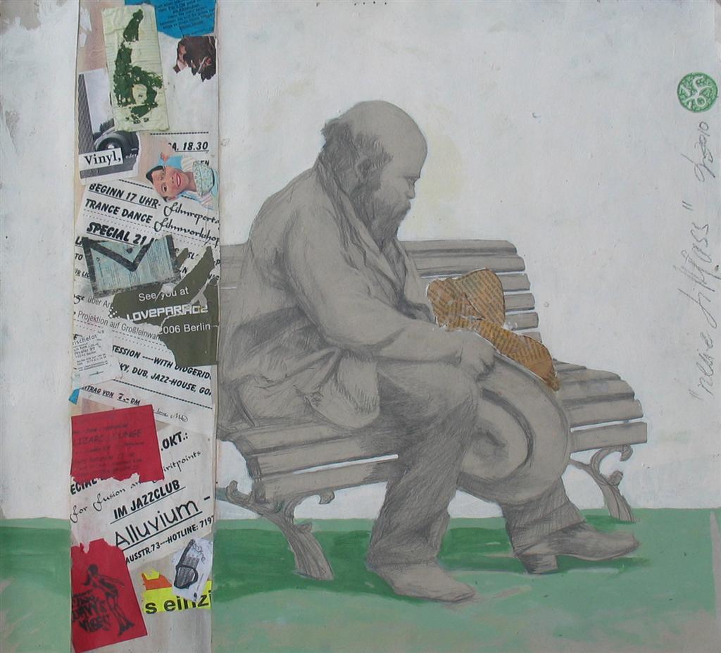 diedel streetart zeichnung collage