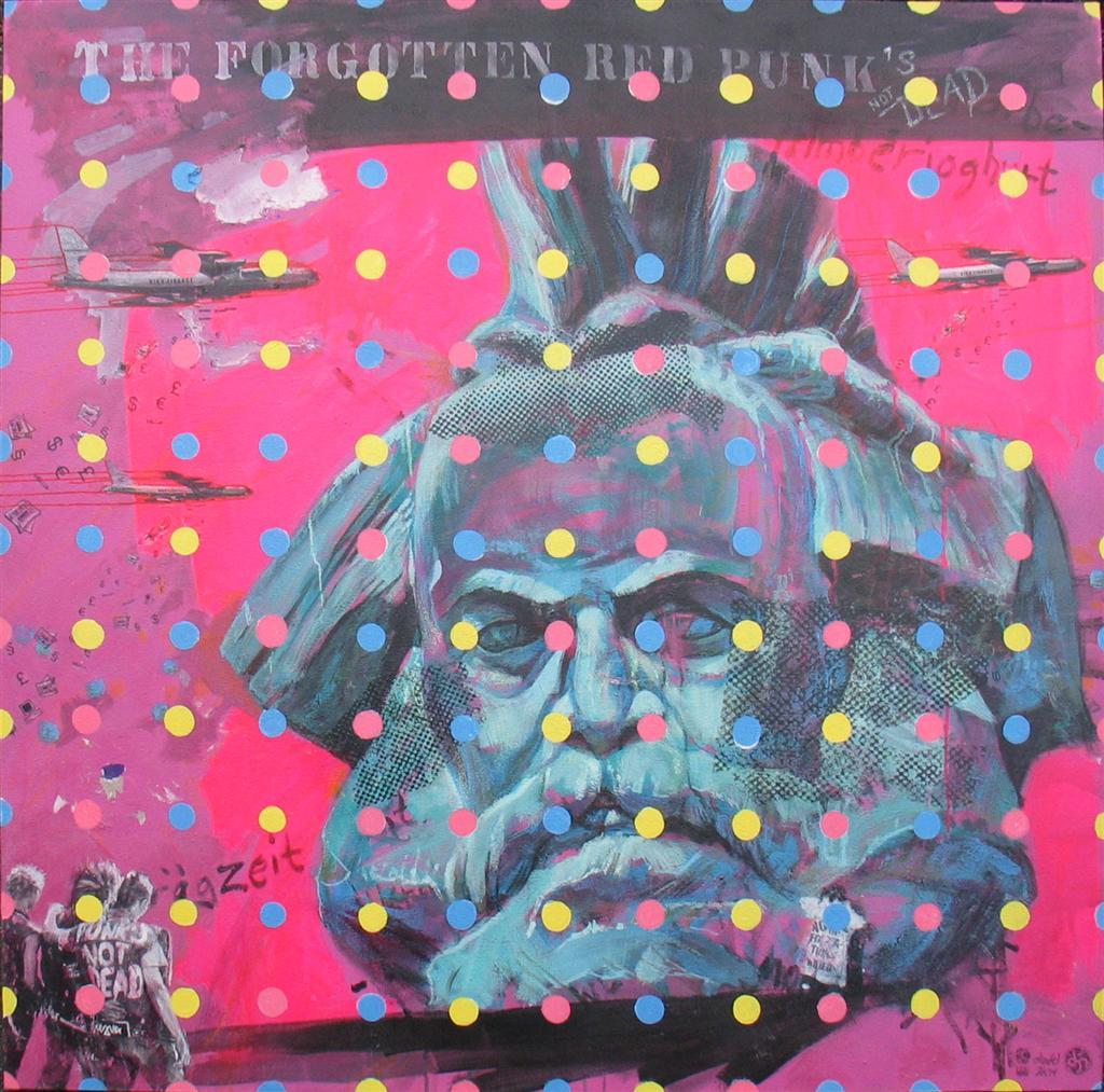 diedel malerei punk streetart marx sozialistisch popart